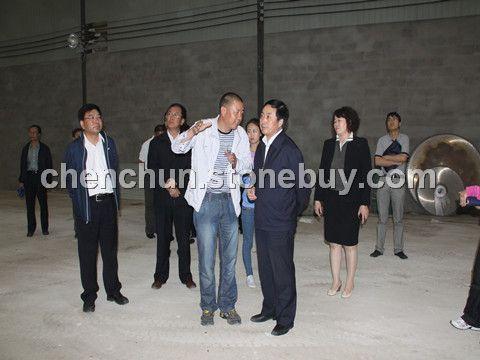 錫林郭勒盟委于書記前來我公司視察和指導工作