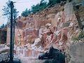 粉色石灰石矿山