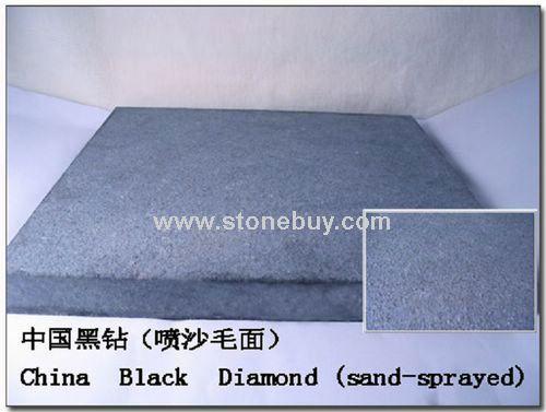 中国黑钻喷沙毛面