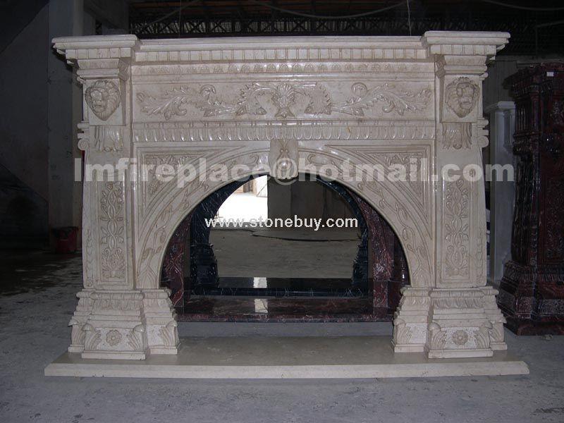 F-038(专业设计、制作石材壁炉架Fireplace Mantel)