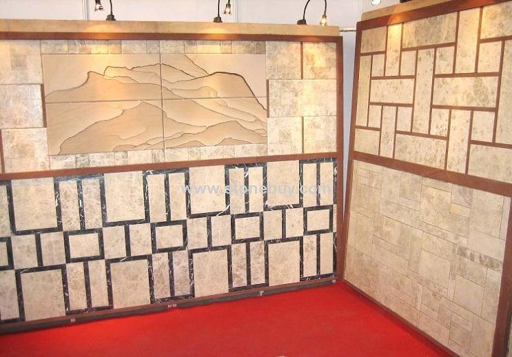 雅典米黄仿古大理石,黄金砂山水花纹仿古