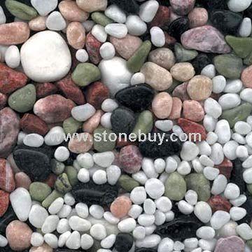 机制卵石 五彩石 图片