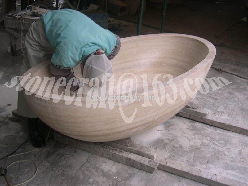 T-003(米黄洞石浴缸MARBLE BATH)
