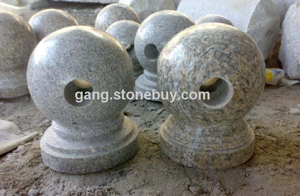 带座圆球图片 - 各式各样的圆球 - 鸿源石材异形工艺