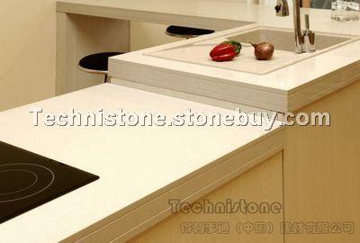 效果图片 - 产品图片信息水晶纯白(7100)用于橱柜台面的效果