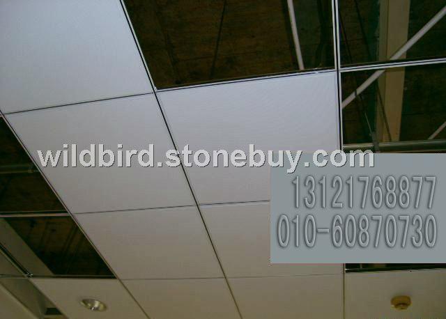 硅酸钙板吊顶板及黑线凹槽烤漆龙骨