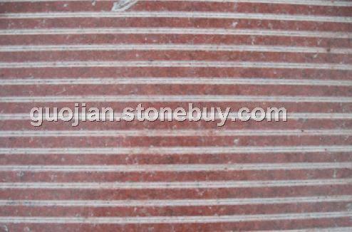 中国红花岗岩(高铁站台拉丝板)