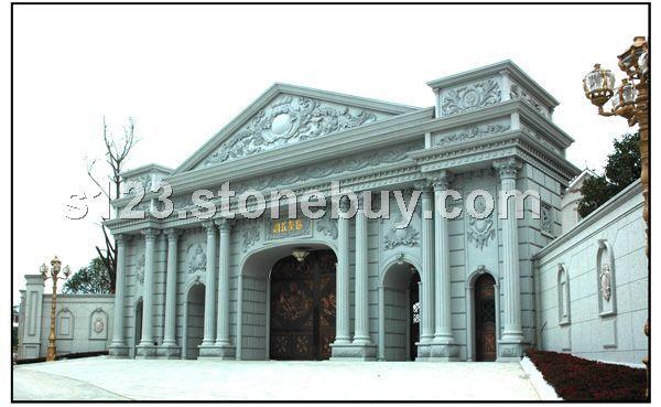 外墙纯石材三层别墅图纸及效果图   别墅设计外观效果图外