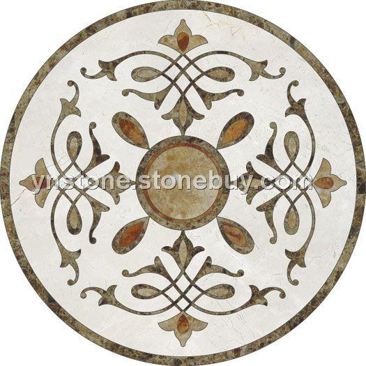 欧式圆形拼花贴图