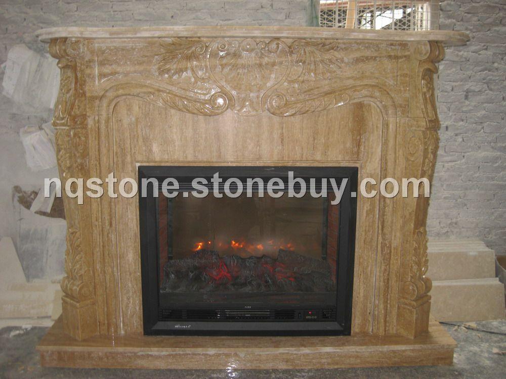 F-243伊朗洞石雕刻壁炉