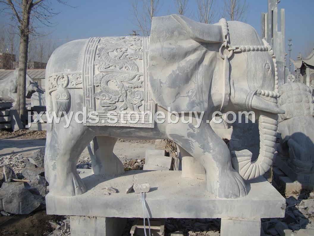 石雕大象图片