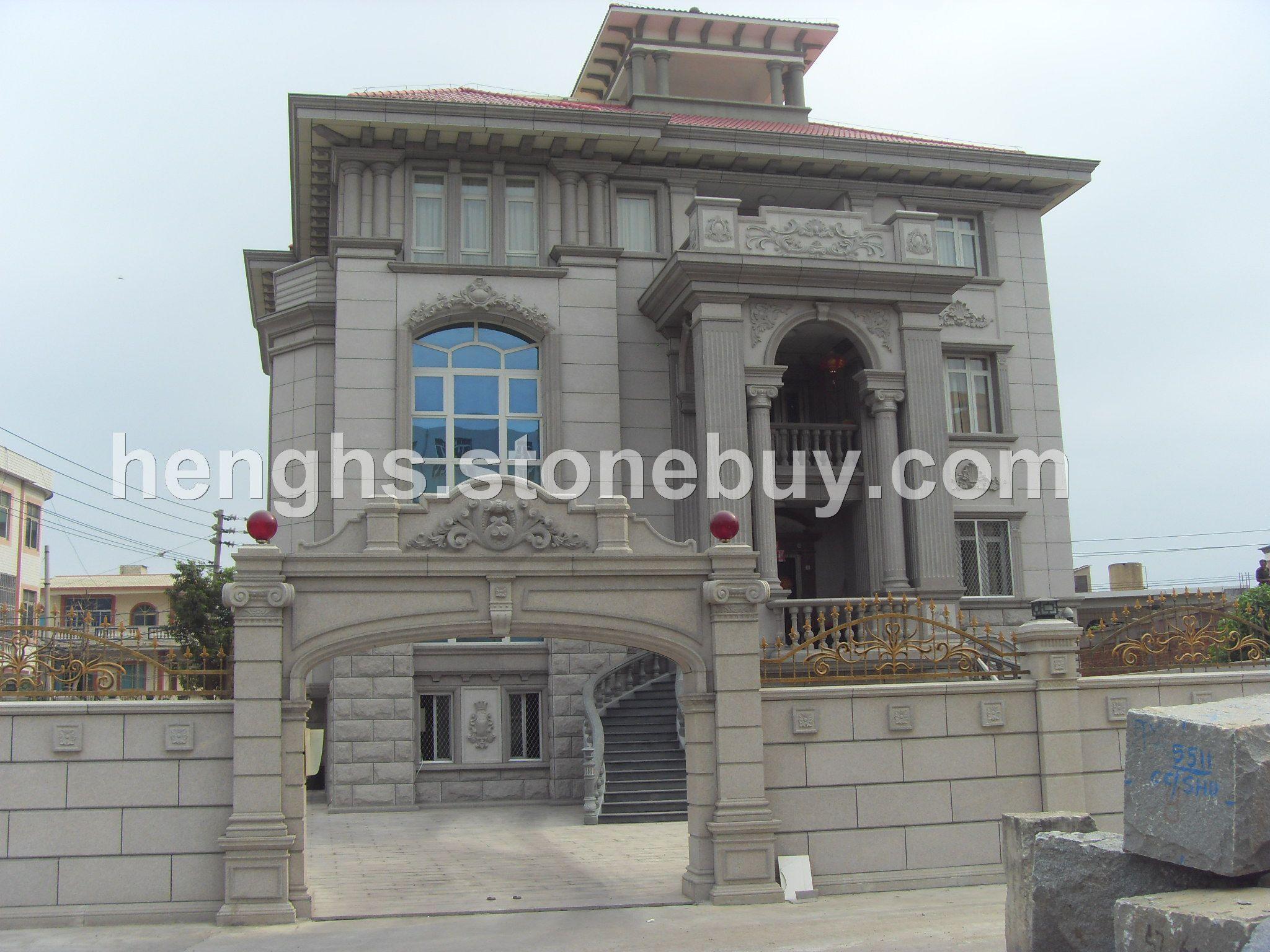 外墙装饰石材干挂 别墅图片