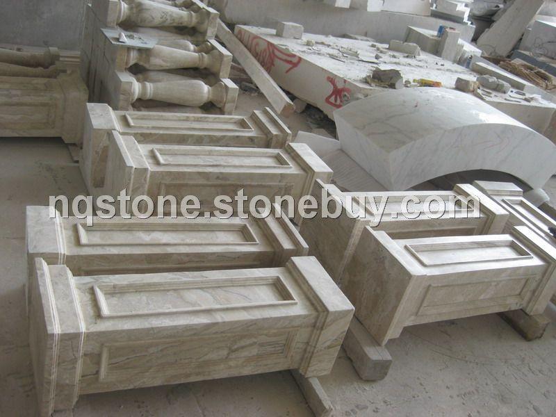 玉芙蓉大理石方柱