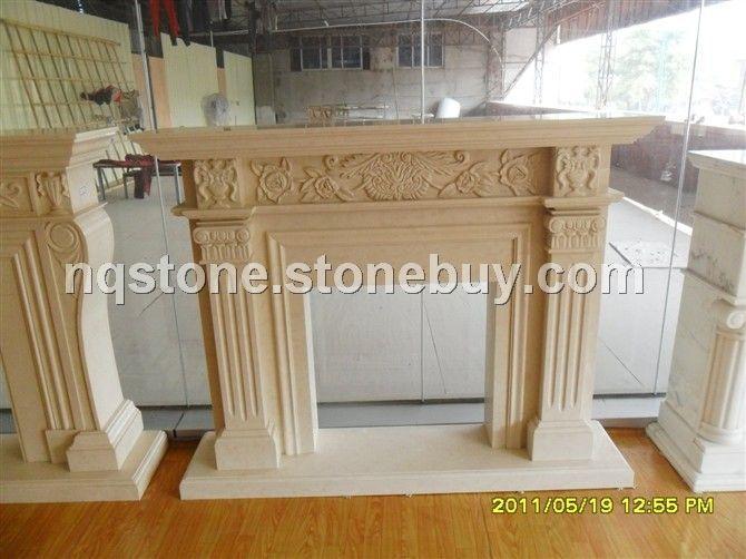 F-324特级莎安娜米黄欧式古典壁炉