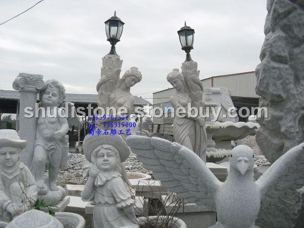 石雕莲花造型灯