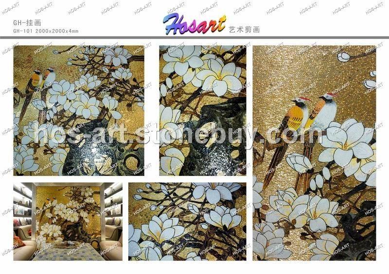 艺术马赛克剪花装饰画图片