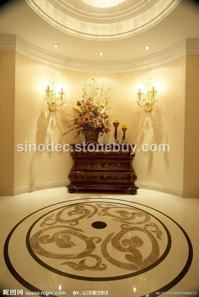 水刀拼花大堂 客厅拼花地板 大理石拼花玄关