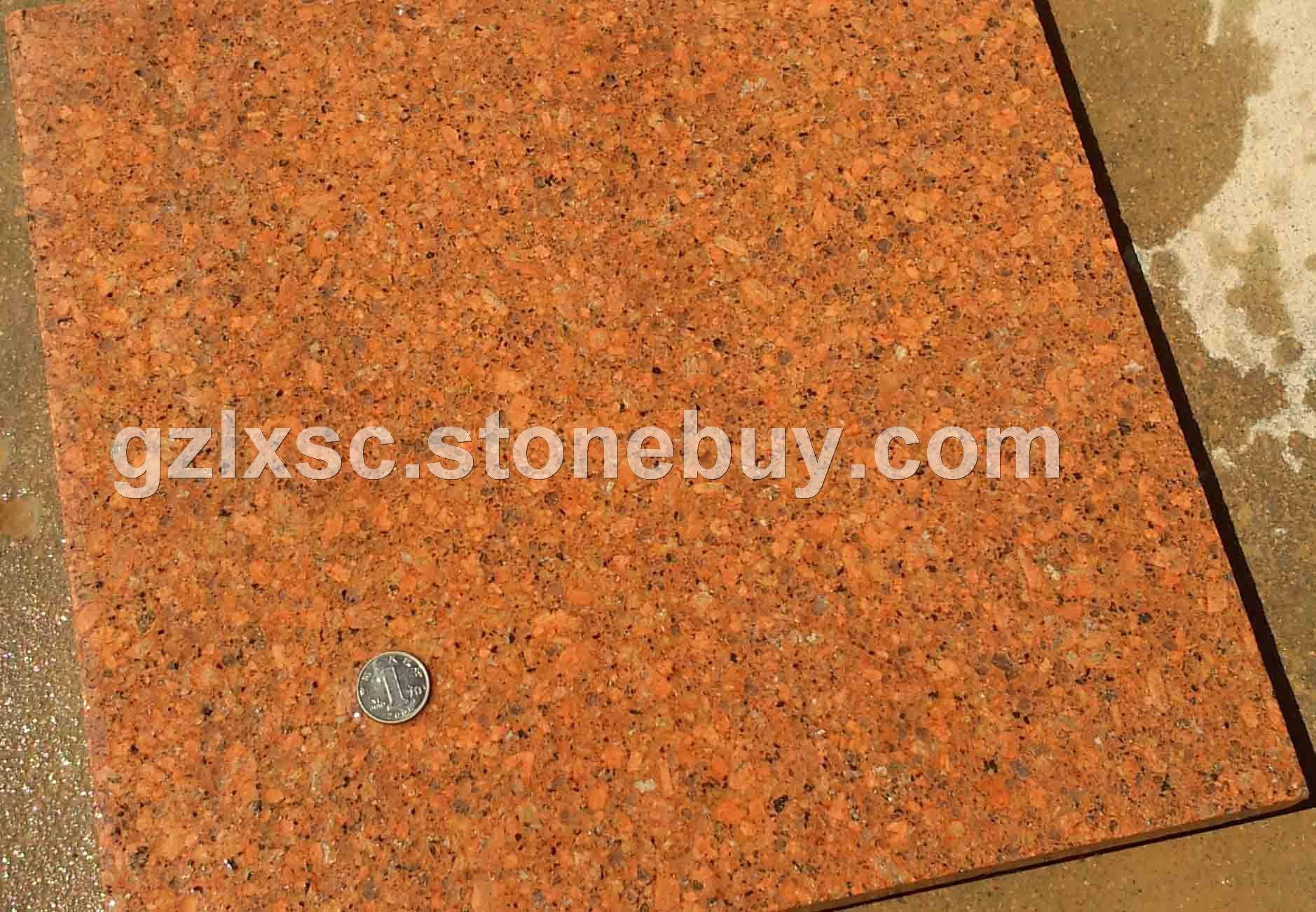 光泽红686石材高源红贵妃红花岗岩石材批发