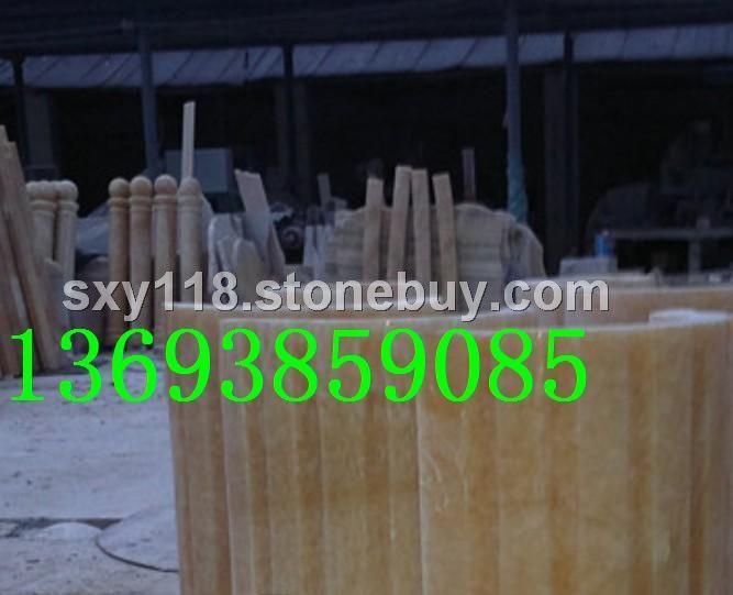 松香玉花瓶楼梯柱,松香玉石材包皮柱产地
