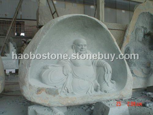 泉州白弥勒佛雕像惠安石雕