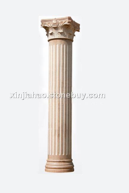 北美风卧室罗马柱床头背景