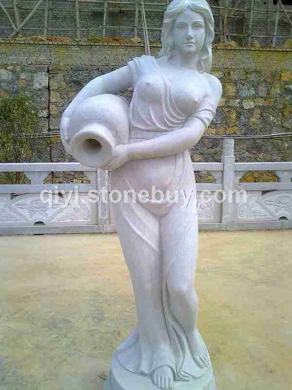西方女-汉白玉雕刻,青石雕刻,大型园林雕刻,人物,动物