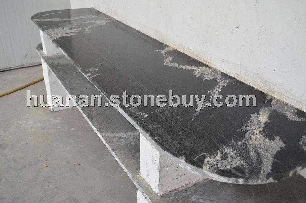 克什米尔黑--幕墙石材、工程板、异形圆柱、进口花