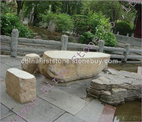自然石景观桌椅GCF517