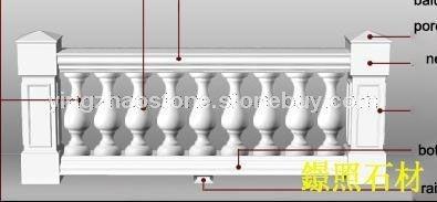 晶白玉小圆柱栏杆
