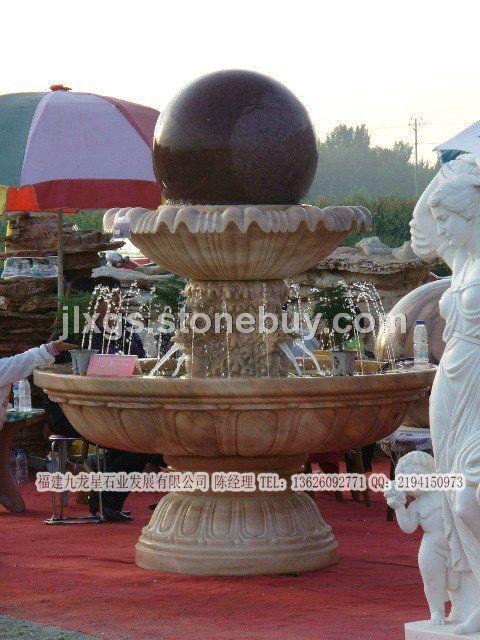 石雕风水球 流水圆滚球