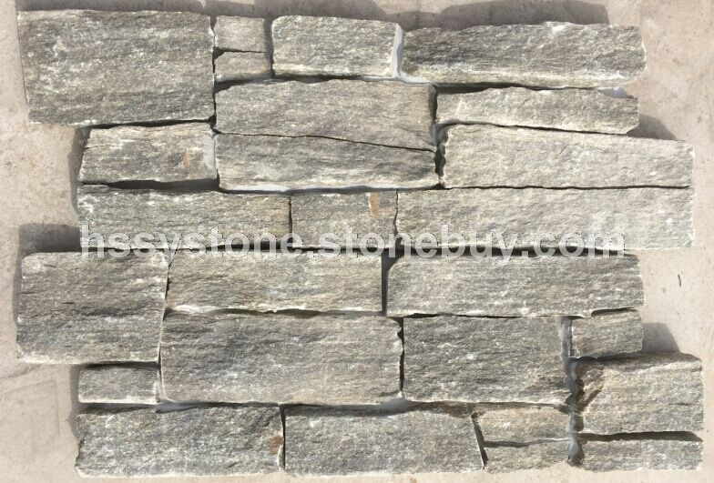 灰綠色石英水泥側粘文化石