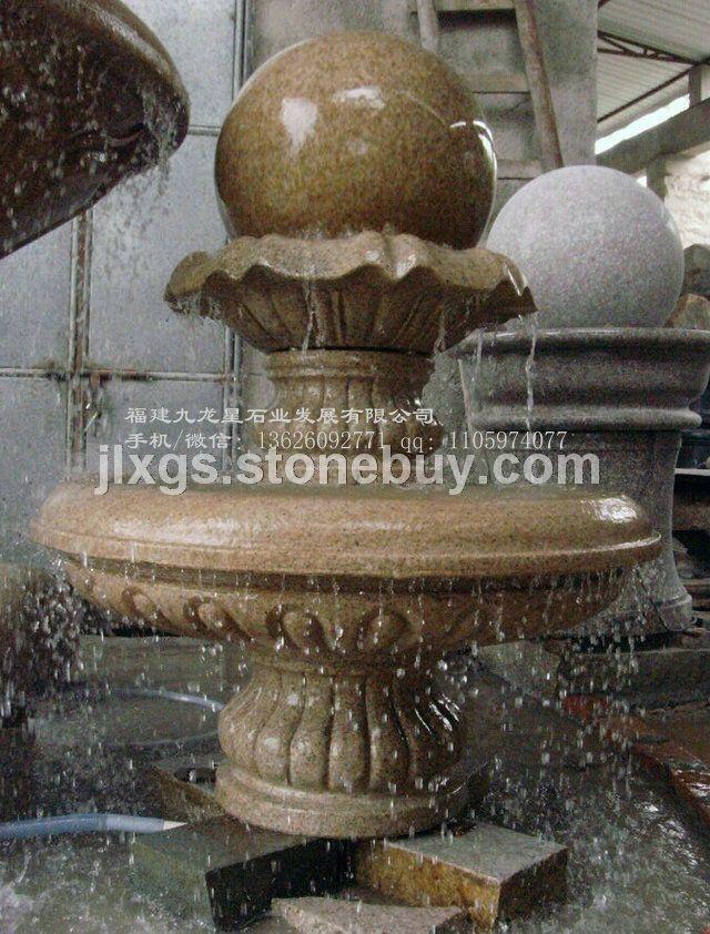 风水球喷泉厂家 景观装饰风水球 石雕转运石球