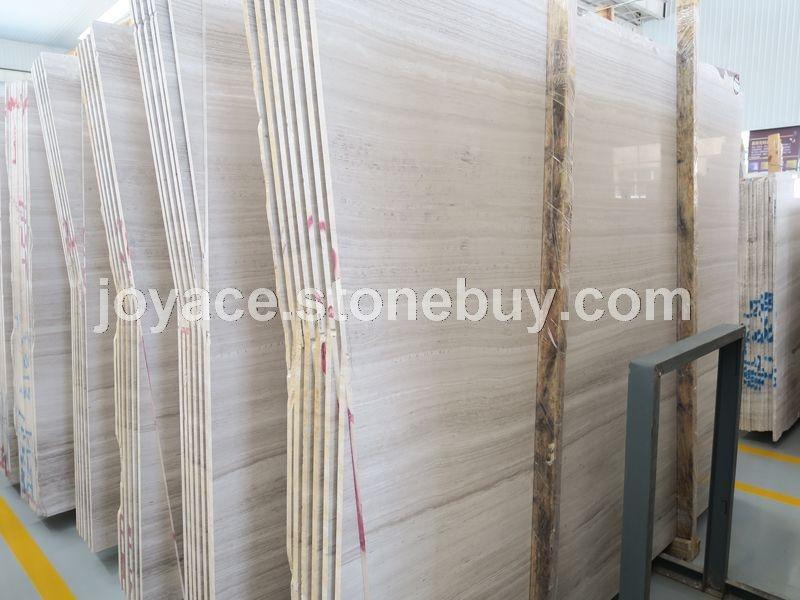 正反磨的白木纹大板