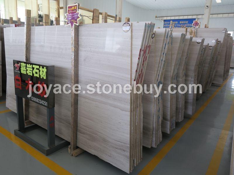 嘉岩石材出口专用白木纹大板