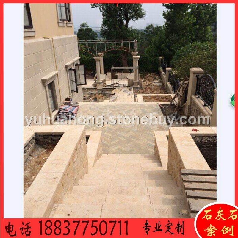 黄姜石古典米黄别墅装饰