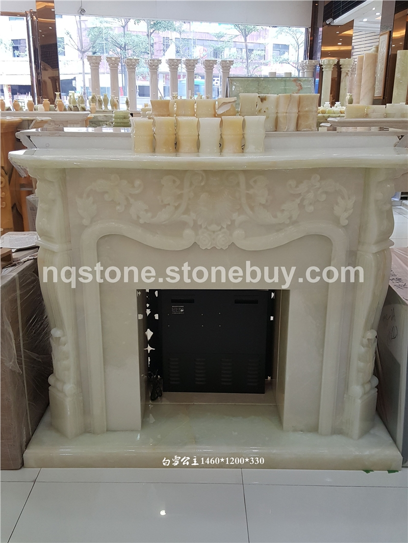 白雪公主手工雕刻壁炉架Fireplace Mantel