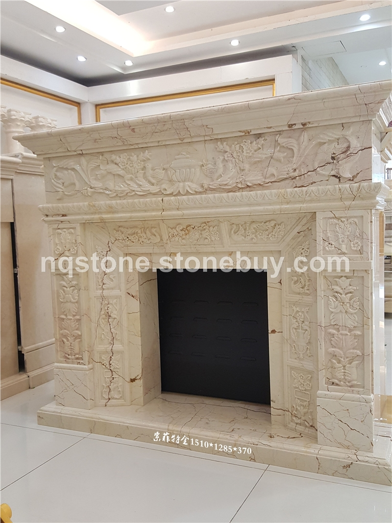 索菲特金大理石雕刻壁炉Fireplace Mantel)