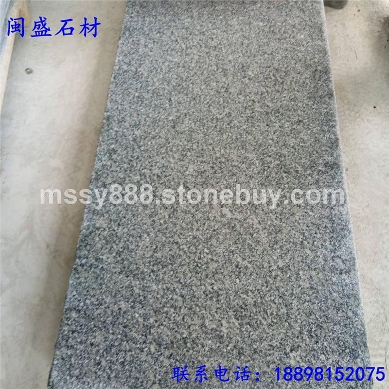 小铁灰石材河南珍珠灰G781芝麻灰毛光板