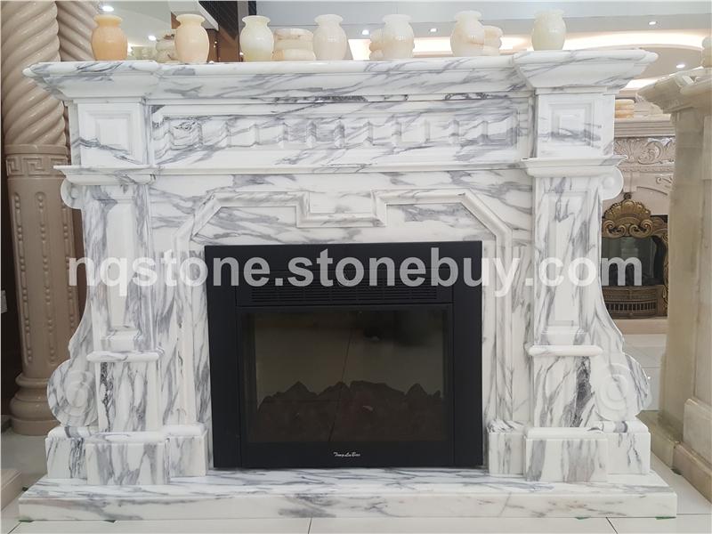 意大利大花白手工雕刻壁炉FIREPLACE