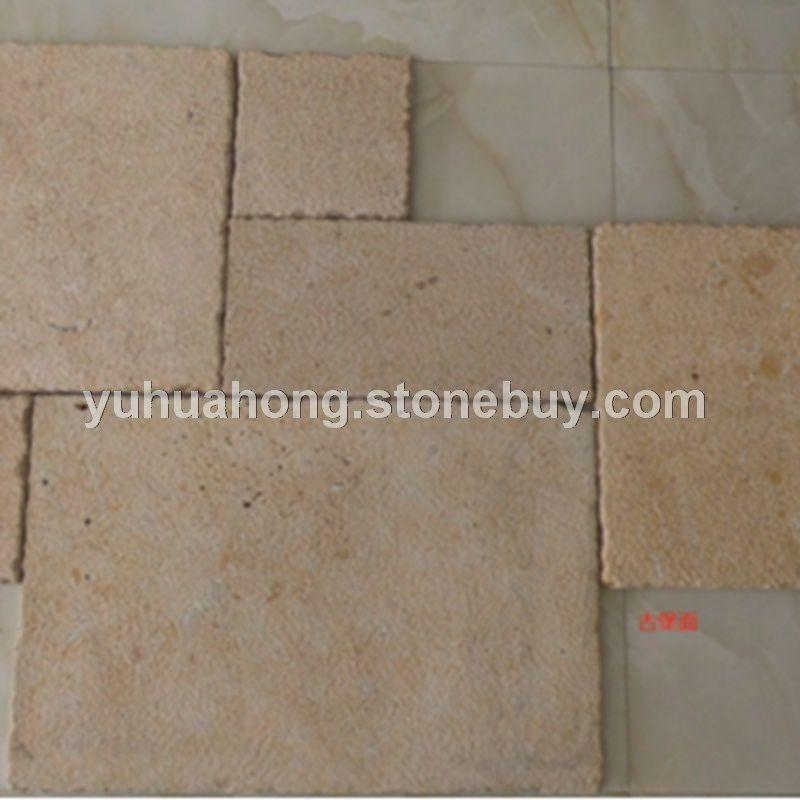 罗曼米黄 莱姆石古堡面景观石墙体石