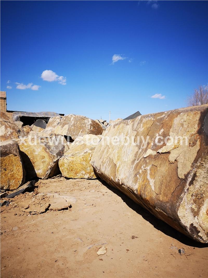 矿山蒙古黑荒料