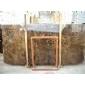 供應:進口深啡網荒料 大板 規格板 邊角料 毛板  天然大理石