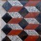 印度红自然面、锈石自然面、银钻、立体拼花