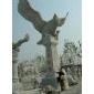 石雕大鹏,鹰石雕苍鹰雄鹰,雄鹰展翅,鹏程万里,大象骏马,宝瓶鹿鹤石雕动物