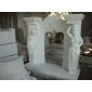 F-217汉?#23376;?#20154;像雕刻壁炉架WHITE MARBLE FIREPLACE