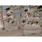 石雕麒麟貔貅,石狮,拓荒牛,龙凤大鹏,大象骏马,宝瓶鹿鹤石雕动物