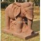 红砂岩小象雕刻