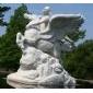 西方人物曲阳石雕