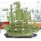 批发供应2010年青玉精工黄料80cm玉石龙船