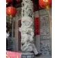 石雕/龙柱/单龙∮带八仙/青斗石/寺庙雕刻
